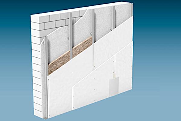 vorsatzschale direkt befestigt doppelt beplankt mit gkb 12. Black Bedroom Furniture Sets. Home Design Ideas